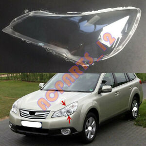For Subaru Outback 2010-2014 Left Side Headlight  Clean Cover PC +Glue Replace