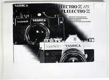 YASHICA TL ELECTRO X ITS/TL ELECTRO X INSTRUCTION MANUAL
