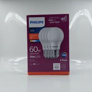 Philips B01AHLY6WO 4pk 10W=60W LED Soft White A19 Bulbs