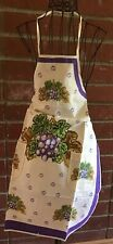 Full 100% Cotton Apron w/ Grapes New in Package