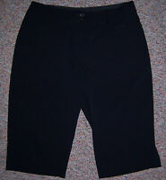 NIKE GOLF Fit-Dry Black Below the Knee Cropped Capris Pants Size 8 NWOT