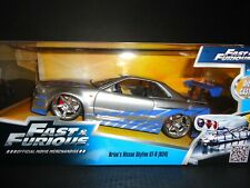 Jada Nissan Skyline GT-R R34 Brian's Fast and Furious 1/24 97158 Box may veried