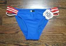 Route 101 Sport USA Red White Blue Bikini Bottom Size S Patriotic New with Tag