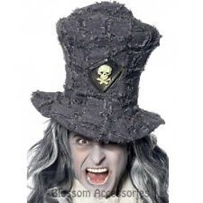 A895 Graveyard Digger Zombie Ghost Top Hat Skull Halloween Costume Accessory