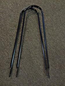 2 Bike Fender Braces Black 26 in Bicycle 26 x 2.125 Balloon Frame Mount #35