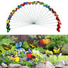 25PCS BUTTERFLY GARDEN METAL STAKE PATIO LAWN YARD PLANTER FLOWER POT DECOR STRI