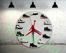"New Handcrafted 12"" 2D Jordan Sneakers quartz clock nike supreme off white yeezy"