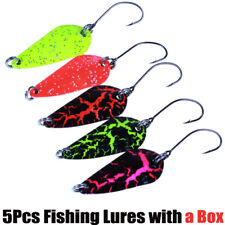 5Pcs /Box Fishing Lures Metal Bait Spoons Fly Ice Fishing Spinning Jigging Lure
