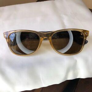 Ray Ban 'New Wayfarer' RB2132 2132 945/57 Honey RayBan Polarized Sunglasses 55mm