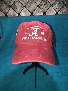 Alabama Crimson Tide Fabric Hats Cap adjustable closure 2009 SEC CHAMPIONS