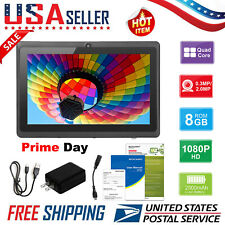 """7"""" inch Tablet PC Android4.4 Quad Core 8GB ROM 512MB RAM Dual Camera WiFi 1.3MP"""