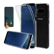Samsung S8 Full Body 360 Fitted Shockproof Front Back Case Cover - Clear