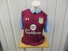 UNDER ARMOUR ASTON VILLA AVFC SEWN RED XL FITTED 2016-17 HOME JERSEY NWT