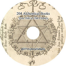 204 Alchemical Books from 16th to 19th century Library of Alchemy on one DVD