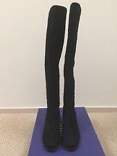 Stuart Weitzman Quiltoga Black Suede  Boots Size 9.5M