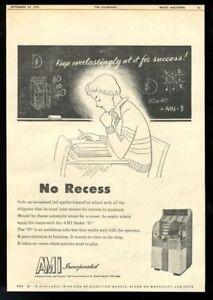 1952 AMi model D jukebox photo schoolboy art BIG trade print ad