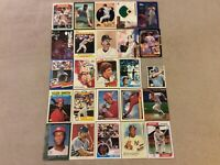 HALL OF FAME Baseball Card Lot 1980-2020 BOB GIBSON MICKEY MANTLE TY COBB +