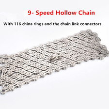9 Speed Bicycle Chain Steel 116 Links Durable Replacement Mountain Bike UK