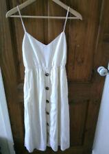 Zara Trf White Midi Dress, XS