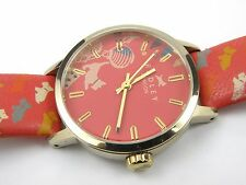 Radley RY2150 Ladies Red Printed Leather Strap Watch