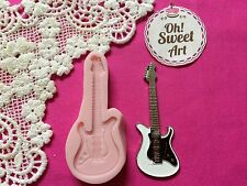 Guitar Silicone Push Mold Food Safe Cake Decoration Candy Cupcake (FDA)