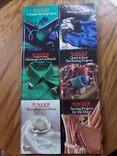 Lot Of 6 Singer Sewing Library, Home, Clothing Repair, Creative Sewing,
