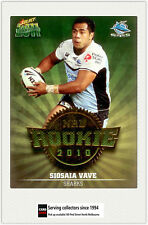 2011 Select NRL Champions Trading Cards Rookie 2010 R17 Siosaia Vave (Sharks)