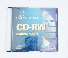 Imation CD-RW 650MB 74 min Disc brand new & sealed blank CD rewritable hard case