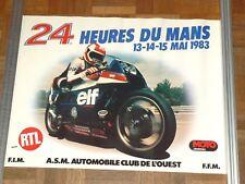 Affiche  24 Heures du Mans  Moto    1983  HONDA    course  poster