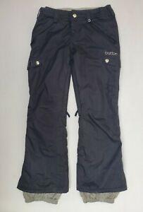 Burton Snow Pants Womens Black Snowboard Ski Dry Ride Cargo Size Small 30x30