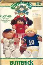 DOLL CLOTHING Pattern CABBAGE PATCH KIDS 6827 Baseball FOOTBALL Cheerleader