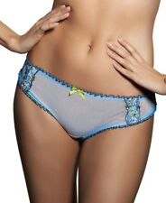 FREYA ERICA THONG SIZE S 10 12 SKY BLUE GINGHAM KNICKERS PANTS LINGERIE 4647 NEW