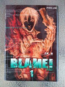 Blame! volume # 1 Tsutomu Nihei 1998 first printing Manga Comic Japan Very Good