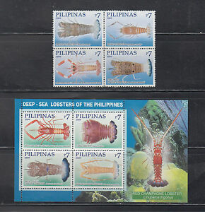 Philippine Stamps 2009 Deep-Sea Lobsters Found in the Philippines Complete set
