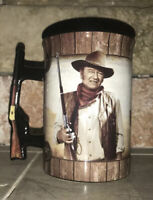 "Gun Shaped Handle-John Wayne 5"" Tall ""A Man's Gotta Do""- 16oz Coffee Mug-In Box"