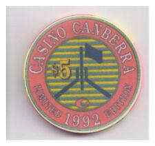 1992 $5 Casino Canberra Multicolour Chip - Special Limited Edition - RARE