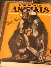 Vintage 1960's How To Draw Animals by Walter T. Foster