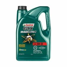 Castrol 03060 GTX MAGNATEC 0W-20 Full Synthetic Motor Oil 5 Quart Reduce Wear