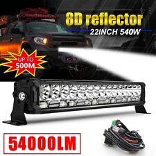 22'' OFFROAD LIGHT BAR SPOT/FLOOD WORK LIGHT BAR OFFROAD 4x4 SUV + Wire harness