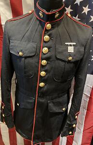 Genuine USMC Marine Corps Rifle Marksman Gaberdine Coat/Tunic Size 40S