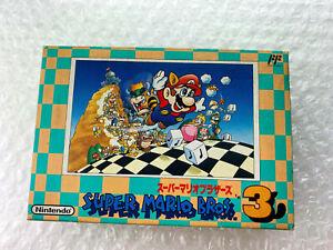 "Super Mario Bros. 3 ""Good Condition"" Nintendo Famicom Japan"
