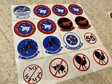 TOP GUN Stickers Tom Cruise Kawasaki GPZ900 Set of 26 decals (16 + 10 spare pcs)