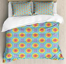 Colorful Shapes Duvet Cover Set Twin Queen King Sizes with Pillow Shams