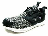 Reebok Furylite New Woven Womens Shoes Running Black Walking Sneakers BD4461 New