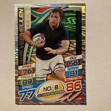 Topps Rugby Attax Card 2015 #134 Duane Vermeulen South Africa  Foil Man Of The M
