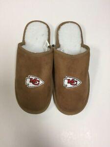Kansas City Chiefs Men's Team Color Moccasin Slide Slippers