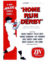 MICKEY MANTLE NEW YORK YANKEES  8.5x11 PHOTO BASEBALL TV HOME RUN DERBY AD