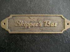 """skipper's bar"" metal door plate ship boat decoration captain"