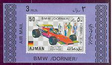 AJMAN Formula 1 Racing CARS BMW Dornier DELUXE SHEET