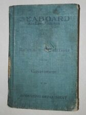 SEABOARD AIR LINE RAILWAY - OPERATING RULE BOOK  c 1907